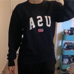 Brandy Melville dark blue USA sweatshirt